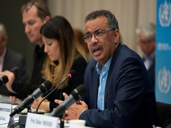Director-General of WHO Dr Tedros Adhanom Ghebreyesus speaks during a news conference following the second meeting of the International Health Regulations (IHR)