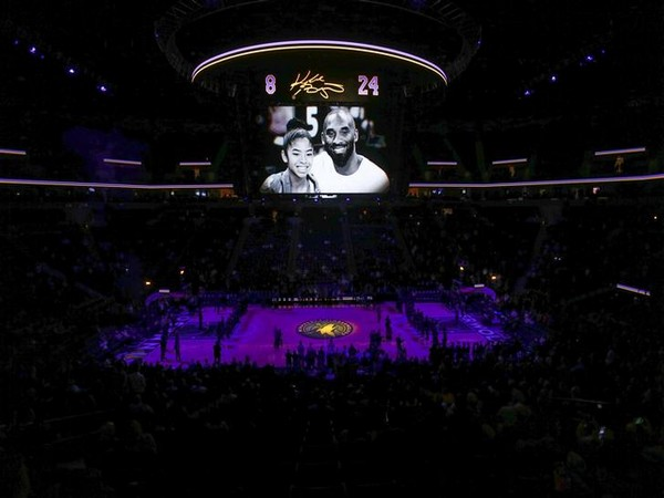 Memorial for Kobe Bryant and his daughter Gianna at Target Center