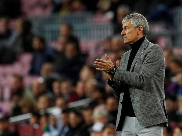 Barcelona manager Quique Setien (File photo)