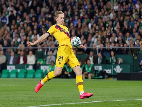 Barcelona midfielder Frenkie de Jong