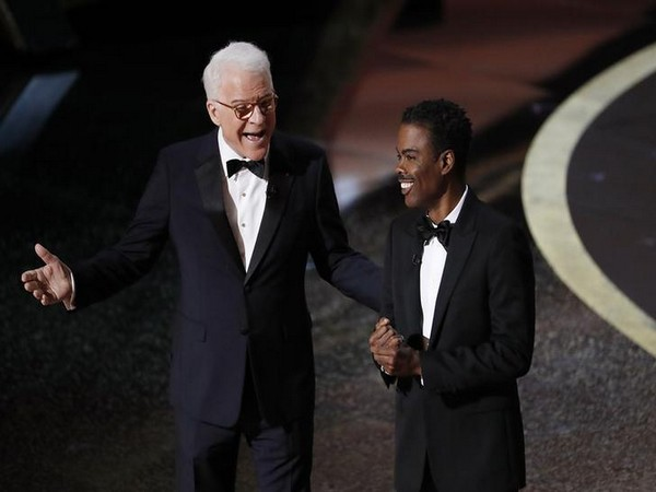 Actors Steve Martin and Chris Rock appear on stage at the 92nd Academy Awards in Los Angeles