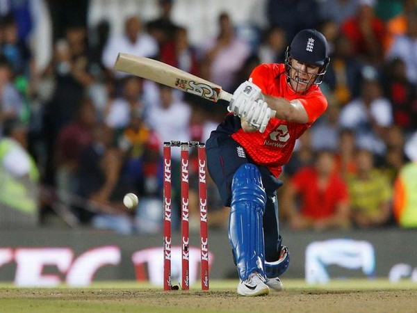 England skipper Eoin Morgan in action against South Africa in first T20I
