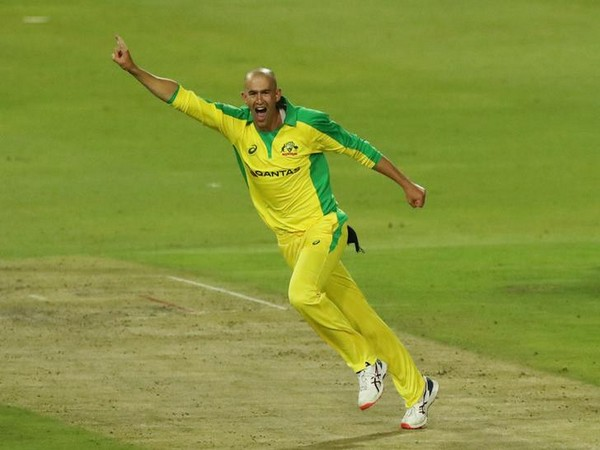Australia's Ashton Agar in action against South Africa in first T20I
