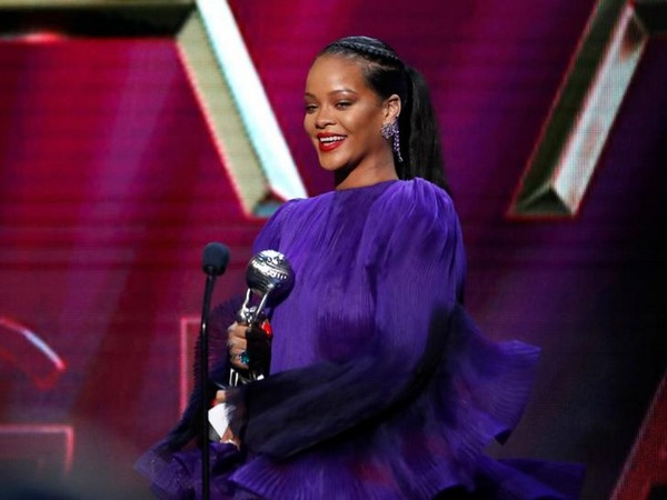 Rihanna accepts the President's award at the 51st NAACP Image Awards show