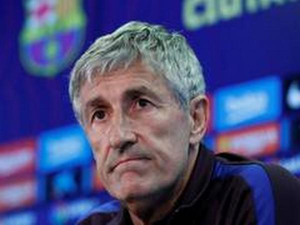 Barcelona manager Quique Setien.