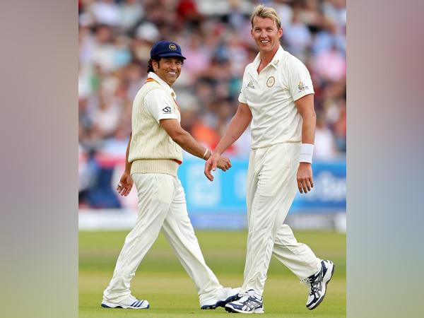 Sachin Tendulkar and Brett Lee