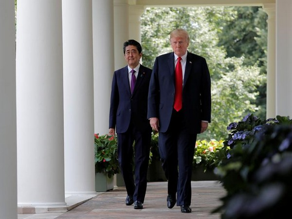 Japan Prime Misniter Shinzo Abe and US president Donald Trump