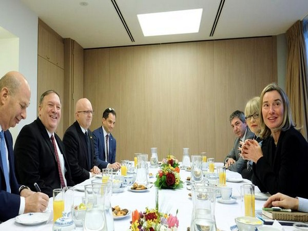 US Secretary of State Mike Pompeo during a meeting with the European Union's diplomatic chief, Federica Mogherini (Source: Reuters)