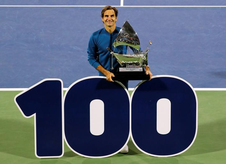Roger Federer on winning his 100th tour title