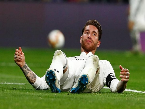 Real Madrid's captain Sergio Ramos