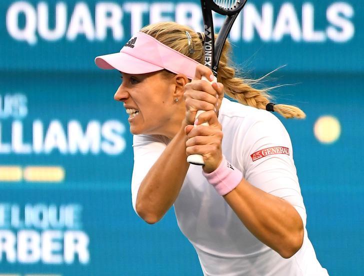 Germany's tennis player Angelique Kerber