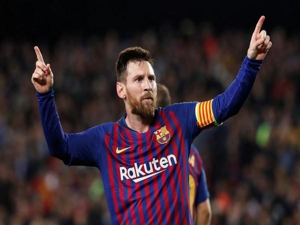 Barcelona player Lionel Messi