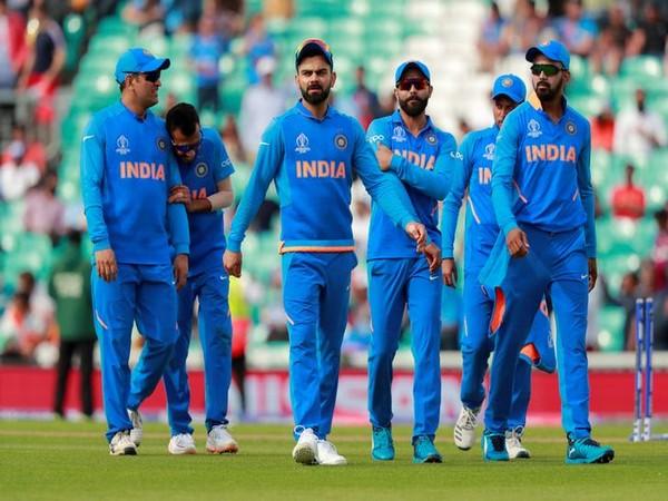 Team India in their main blue kit