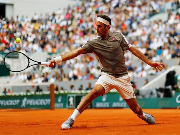 Roger Federer during the first round match of French Open