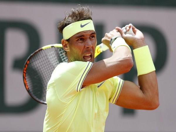 Rafael Nadal during his first round match in French Open