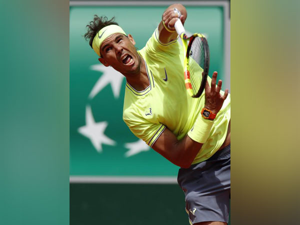 Rafael Nadal in action during his second round match in the French Open