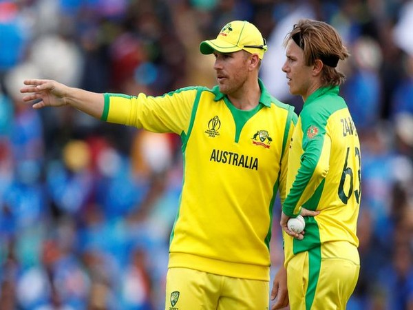 Australia skipper Aaron Finch with spinner Adam Zampa