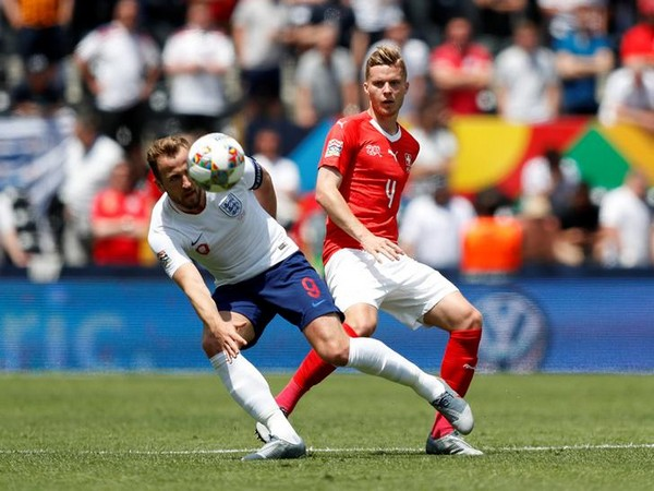 England's Harry Kane in action with Switzerland's Nico Elvedi