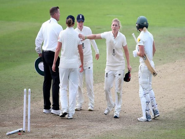 England's Heather Knight at the end of the match against Australia