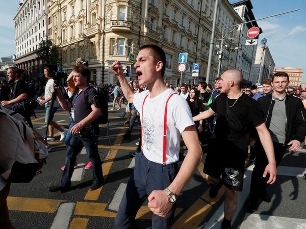 Protesters demanding free and fair elections at a rally in Moscow on Saturday.