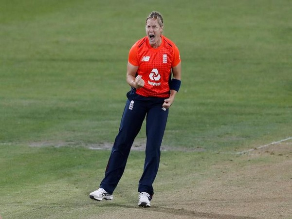 England's Katherine Brunt in action during final T20I of Women's Ashes