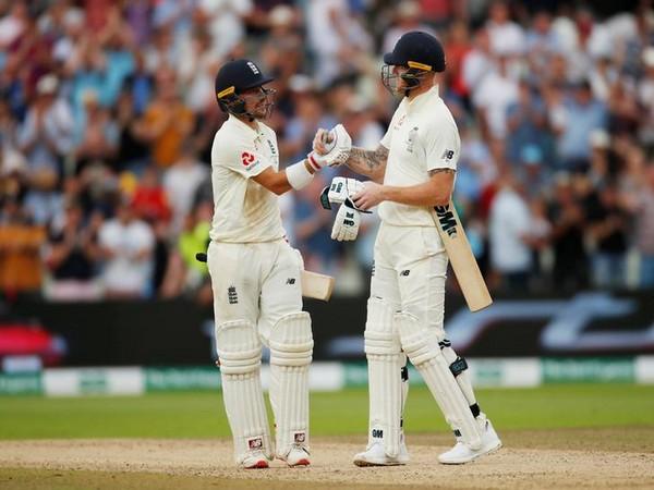 England's Rory Joseph Burns (left) with Ben Stokes (right)