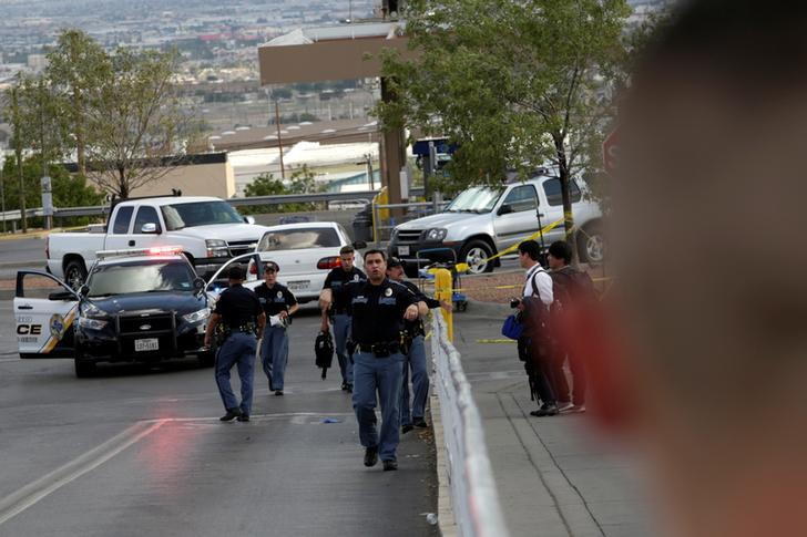 Police after a mass shooting at a Walmart in El Paso, Texas in the US on Aug 3. Photo/ANI