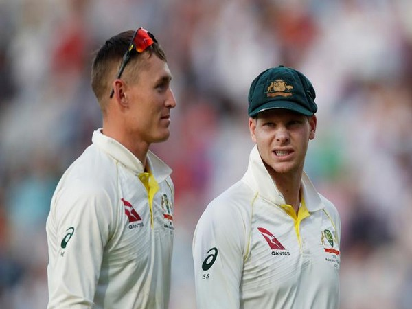 Australia's Marnus Labuschagne and Steve Smith