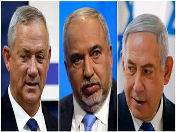 From L to R: Benny Gantz of Blue and White Party, Avigdor Lieberman of Yisrael Beytenu Party and Israeli PM Benjamin Netanyahu of Likud Party. (File photo/Reuters)
