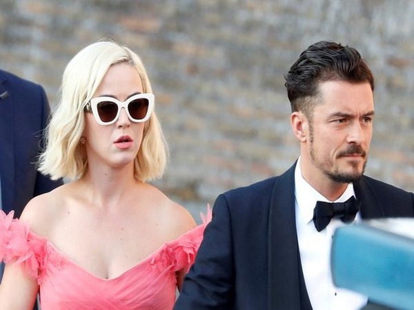 Singer Katy Perry with Orlando Bloom