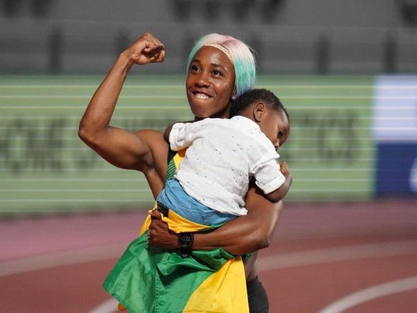 Jamaica's Shelly-Ann Fraser-Pryce after winning fourth gold at World Athletics Championships