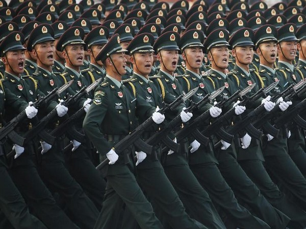PLA troops doing march past (File photo)