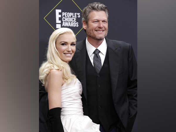 Gwen Stefani  and  Blake Shelton.