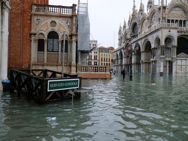 A flooded St Mark's square is pictured during exceptionally high water levels in Venice. (File photo)