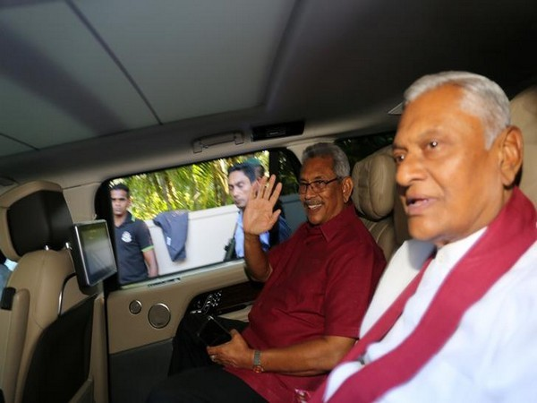 President Gotabaya Rajapaksa with his brother Chamal Rajapaksa in Colombo on Nov 17