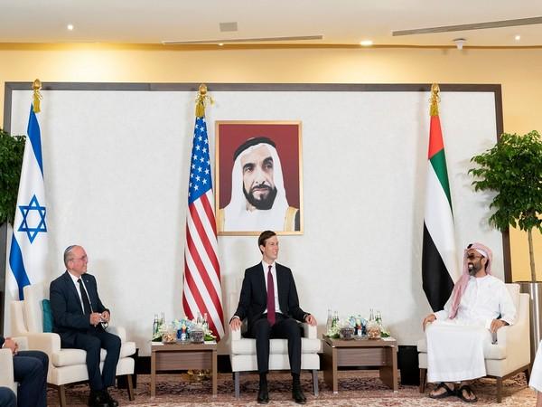 Israeli National Security Advisor Meir Ben-Shabbat, U.S. President's Senior Advisor Jared Kushner and UAE's National Security Adviser Sheikh Tahnoun bin Zayed Al Nahyan hold a meeting in Abu Dhabi.