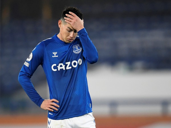 Everton midfielder James Rodriguez