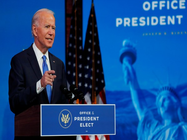 US President-elect Joe Biden delivering a telivised address to the nation on Monday (Local time) (Photo source: Reuters)