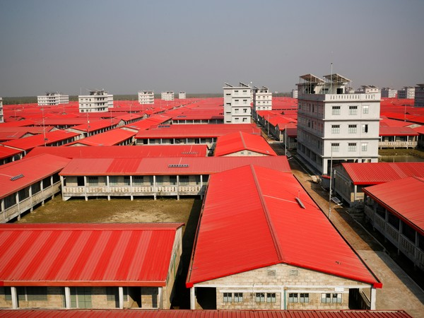 A view of the newly constructed houses in Bhasan Char in Bangladesh for the Rohingya refugees. (Photo credit: Reuters)