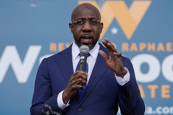 Democratic Senate candidate Raphael Warnock (Credit: Reuters Pictures)