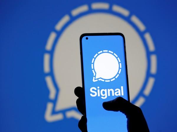 Signal messaging app logo