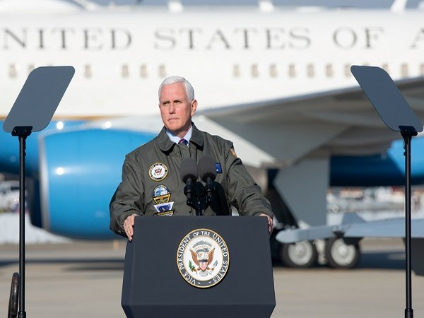 US Vice President Mike Pence at Naval Air Station Lemoore (Credit: Reuters Pictures)