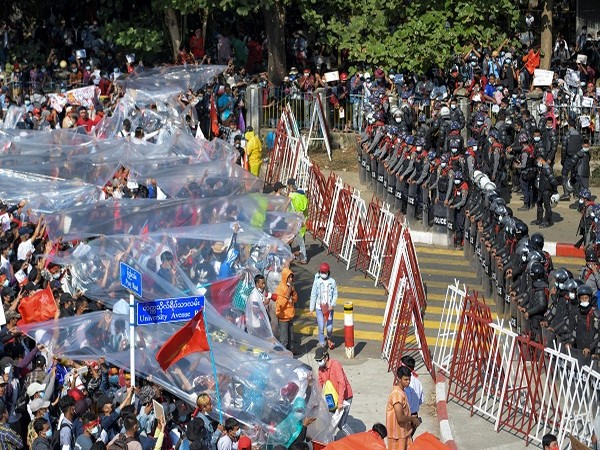 Protests against the military coup in Myanmar (Credit: Reuters Pictures)