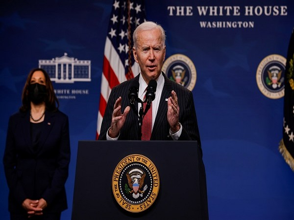 US President Joe Biden delivering remarks on the political situation in Myanmar. (Credit: Reuters Pictures)