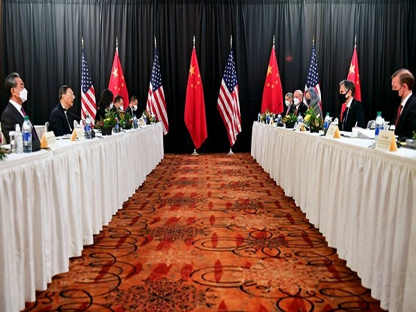 US-China high level meeting in Alaska (Credit: Reuters PIctures)