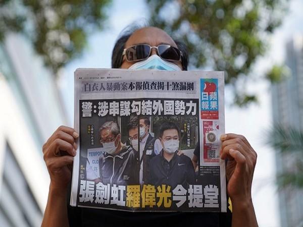 Hong Kong's last pro-democracy print newspaper Apple Daily (Photo Credit: Reuters)