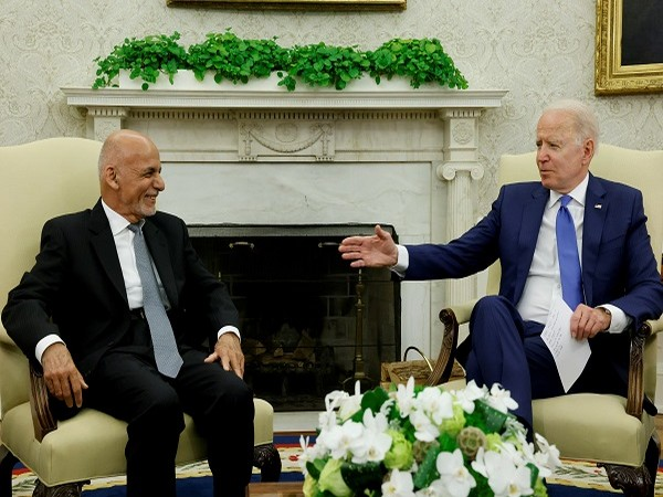 US President Joe Biden with his Afghan counterpart Ashraf Ghani (Credit: Reuters)