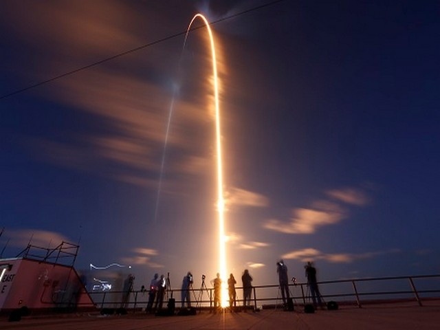 A civilian crew aboard a Crew Dragon capsule and SpaceX Falcon 9 rocket launches from Kennedy Space Center in Florida. (Photo Credit: REUTERS)