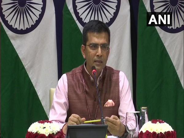 External Affairs Ministry spokesperson Raveesh Kumar addressing the media on Thursday