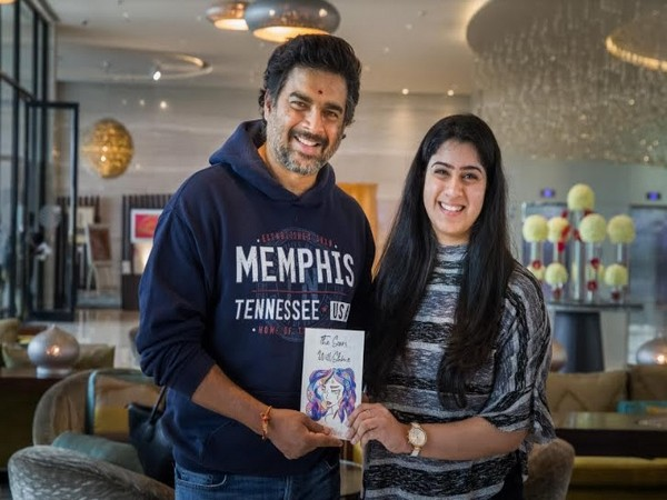 R Madhavan Indian Flim actor with Ishani Dubey during the unveiling of the book The Scars Will Shine